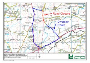 ADVANCED NOTICE OF TRAFFIC DIVERSION THROUGH VILLAGE