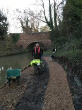 TOWPATH REPAIRS UNDERWAY